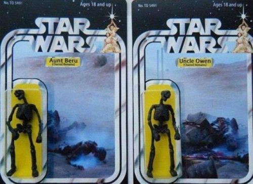 star wars toys burnt remains 500x364 star wars toys   burnt remains