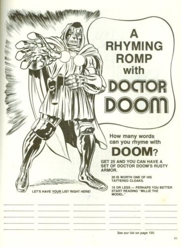a rhyming romp with doctor doom