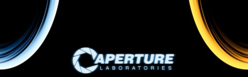aperture laboratories wallpaper 500x156 aperture laboratories wallpaper