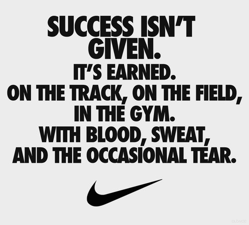 success isnt given