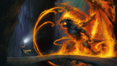 Lord of the Rings Balrog wallpaper 500x281 Lord of the Rings   Balrog wallpaper