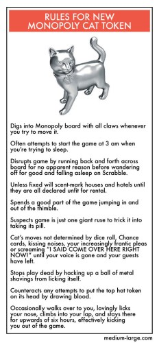 Rules for new cat monopoly token 232x500 Rules for new cat monopoly token