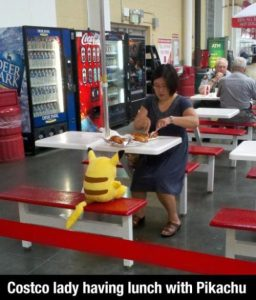 costco lady having lunch with pikachu.jpg