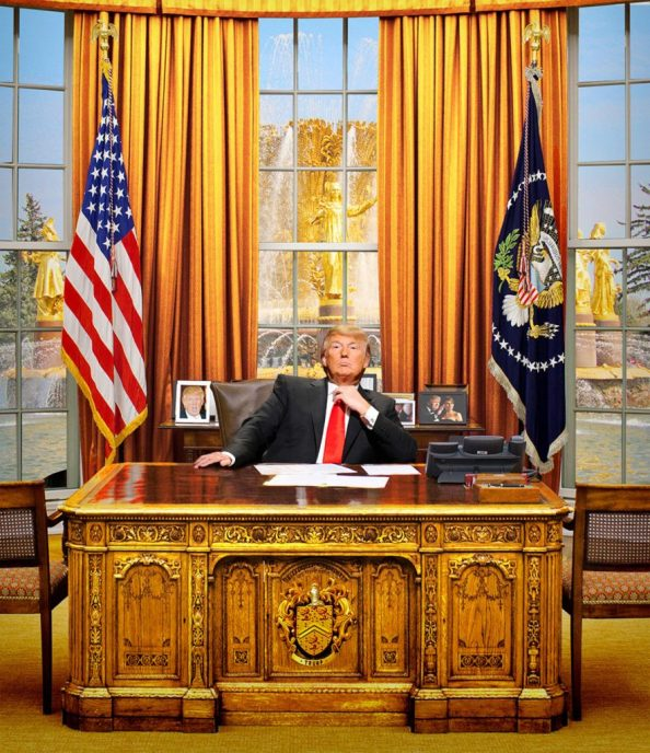Donald Trump in the Golden Office 884x1024 Donald Trump in the Golden Office