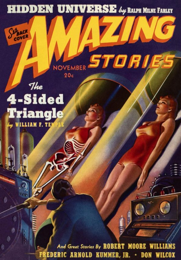 Amazing Stories The 4 Sided Triangle cover by Harold McCauley 711x1024 Amazing Stories   The 4 Sided Triangle cover by Harold McCauley