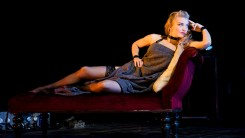 Natalie Dormer on a couch