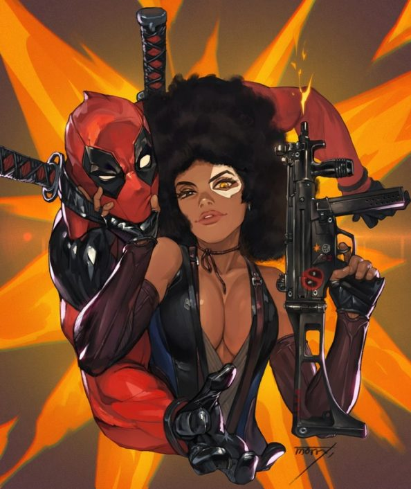 deadpool and Domino 861x1024 deadpool and Domino