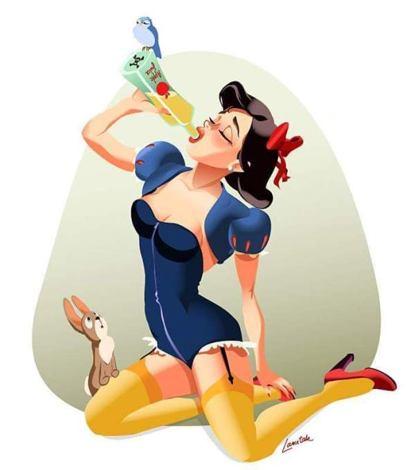 drunk snow white drunk snow white