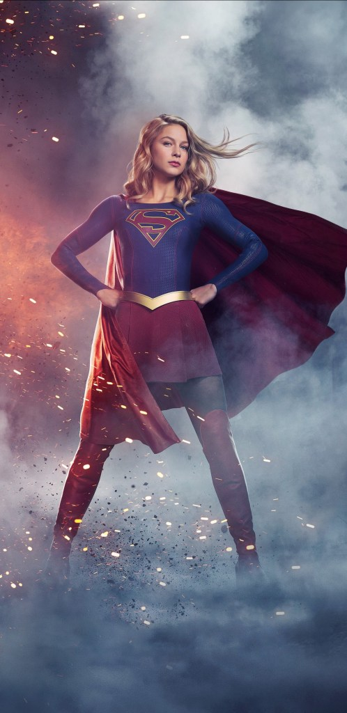 Supergirl in a super pose