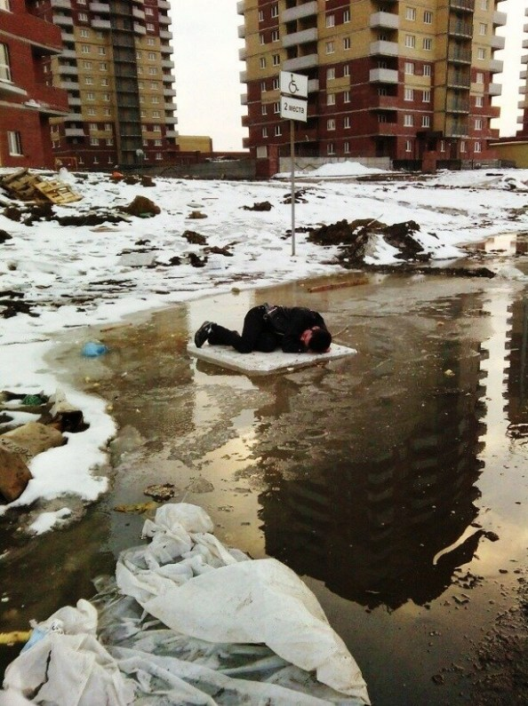 lucky drunk adrift in a frozen pool of regret