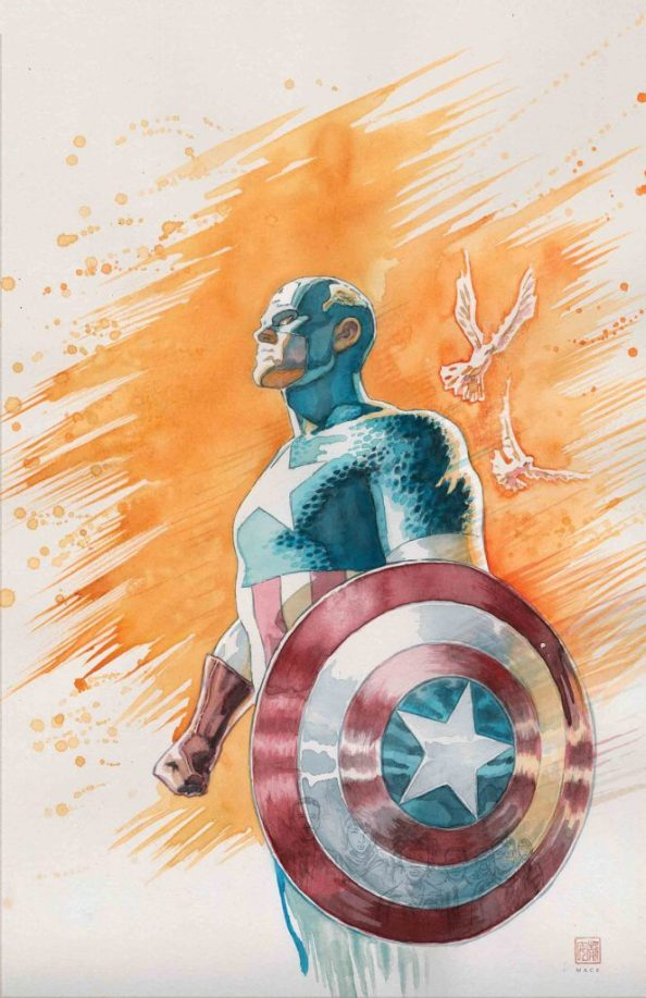 Captain America in water color 663x1024 Captain America in water color
