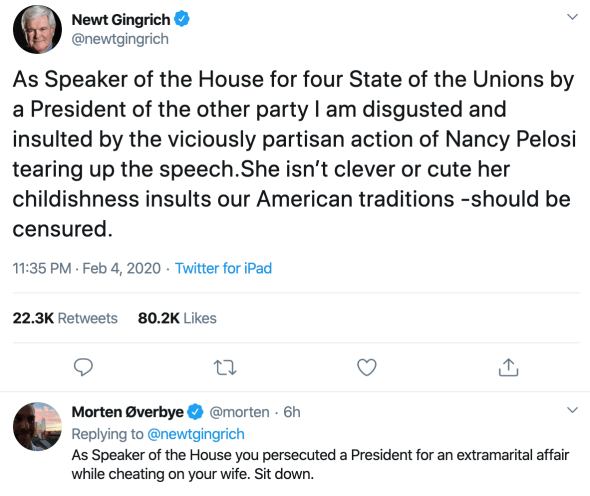 New Gingrich is still a shit head