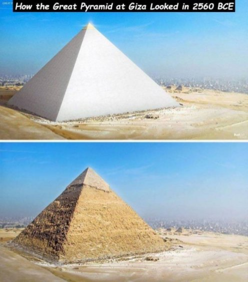 Great Pyramid then vs now