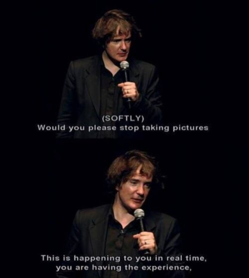 stop taking pictures