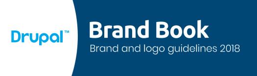 Initial draft of Drupal brand book
