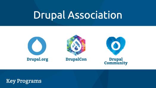 Drupal Association key program areas
