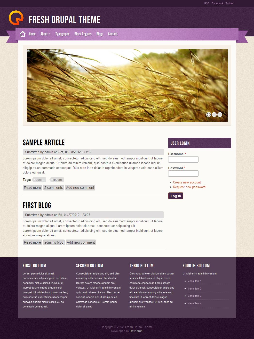 fresh theme drupal org