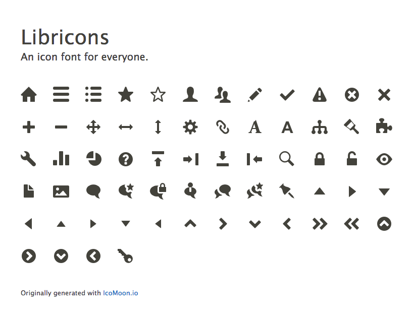 Use Libricons (icon font) in Seven, consider using it more