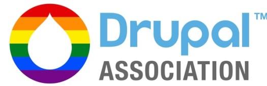 Drupal Association rainbow pride month logo