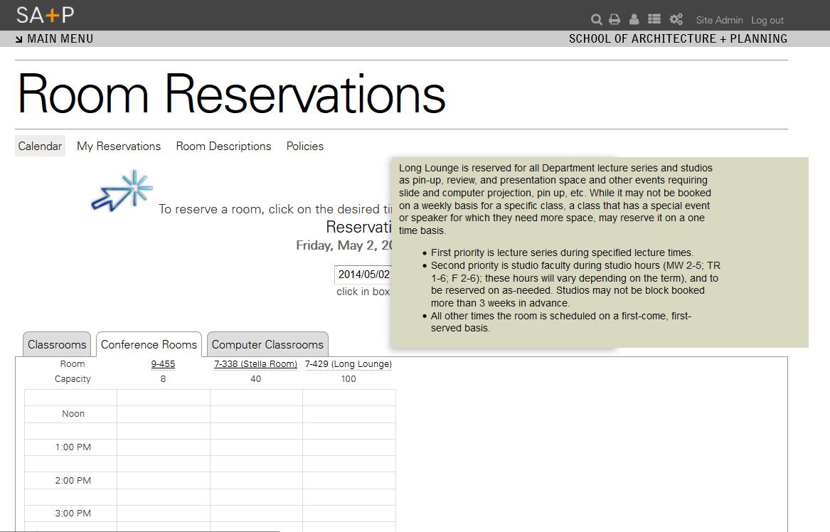 Room Reservations  Drupalorg