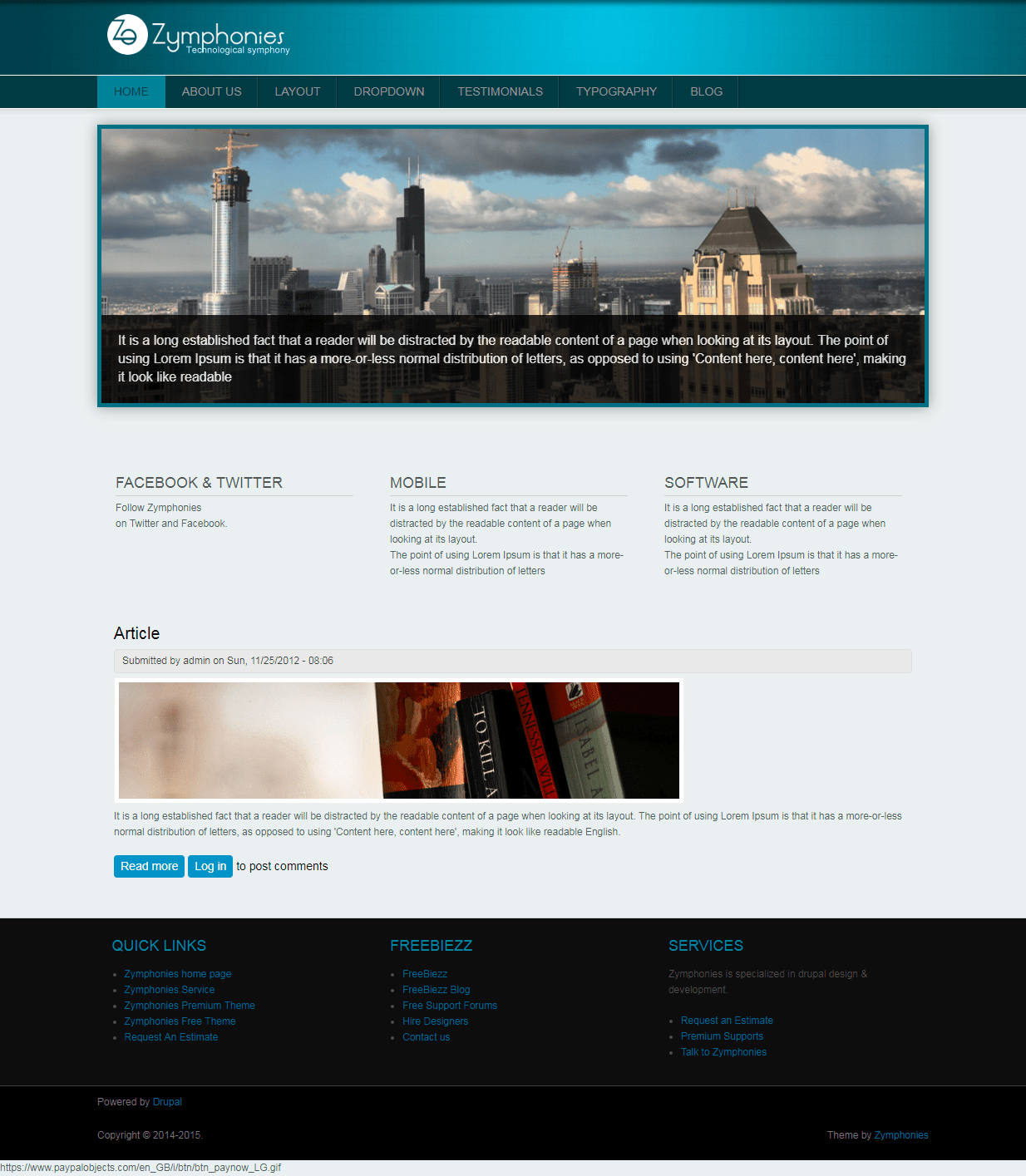 Professional Responsive Theme   Drupal.org