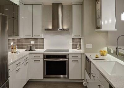 Contemporary Chic Condo Kitchen