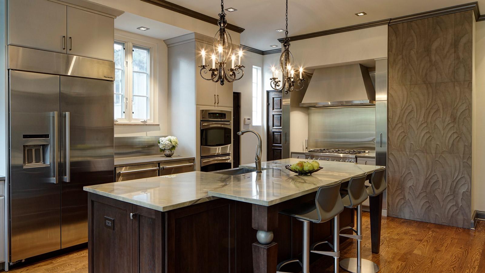 intriguing soft contemporary glen ellyn kitchen design - drury design