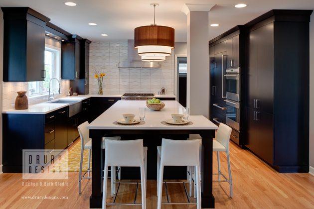 Winning Contemporary Elmhust Kitchen Design | Drury Design Chicago