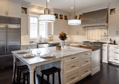 Open Concept Kitchen Featuring Rutt Cabinetry
