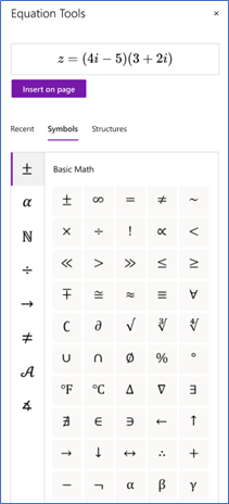 Math - OneNote, Word - Equation Tools.png