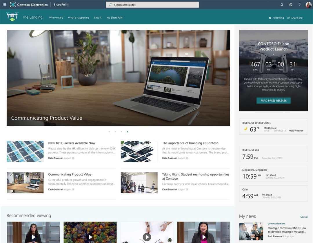 Custom SharePoint portal on Microsoft 365