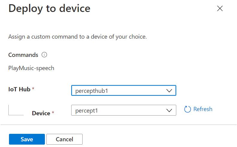 AzurePerceptStudio-DeployCOmmand