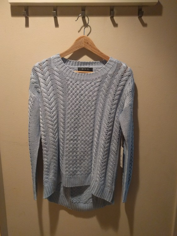 Tranquil Teachings Sweater (PSA again don't hang your sweaters like this! This was only for the photo!)