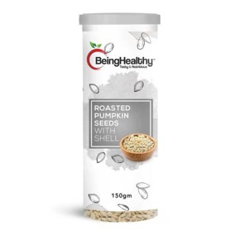 Being Healthy Roasted Pumpkin Seeds with shell 175g