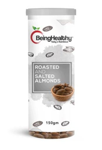 Being Healthy Roasted & Salted Almonds 150g