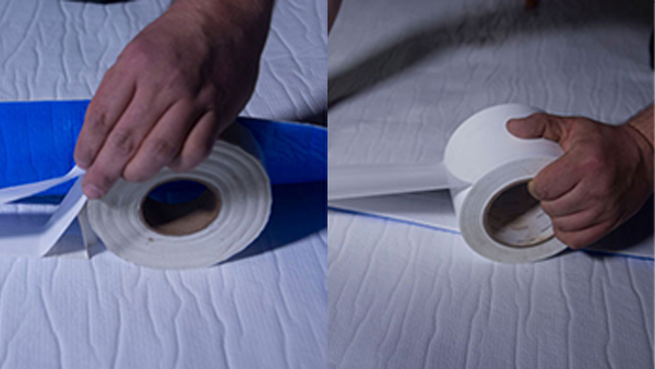 Double Tape the Seams of the Vapor Barrier