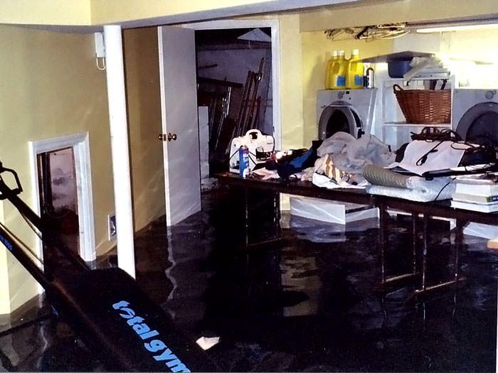 Basement Flooding ruining personal belongings