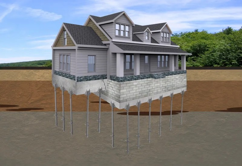 Foundation Helical Piers Illustration