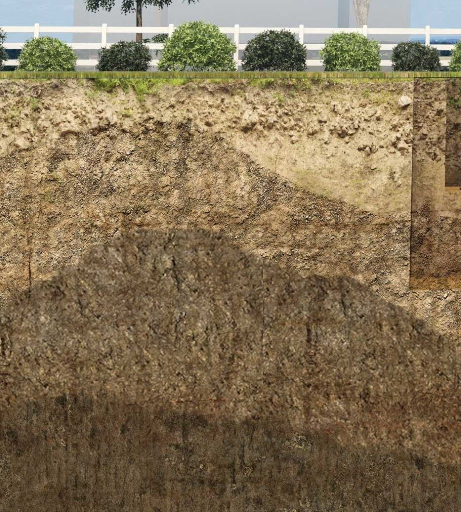 different soil layers