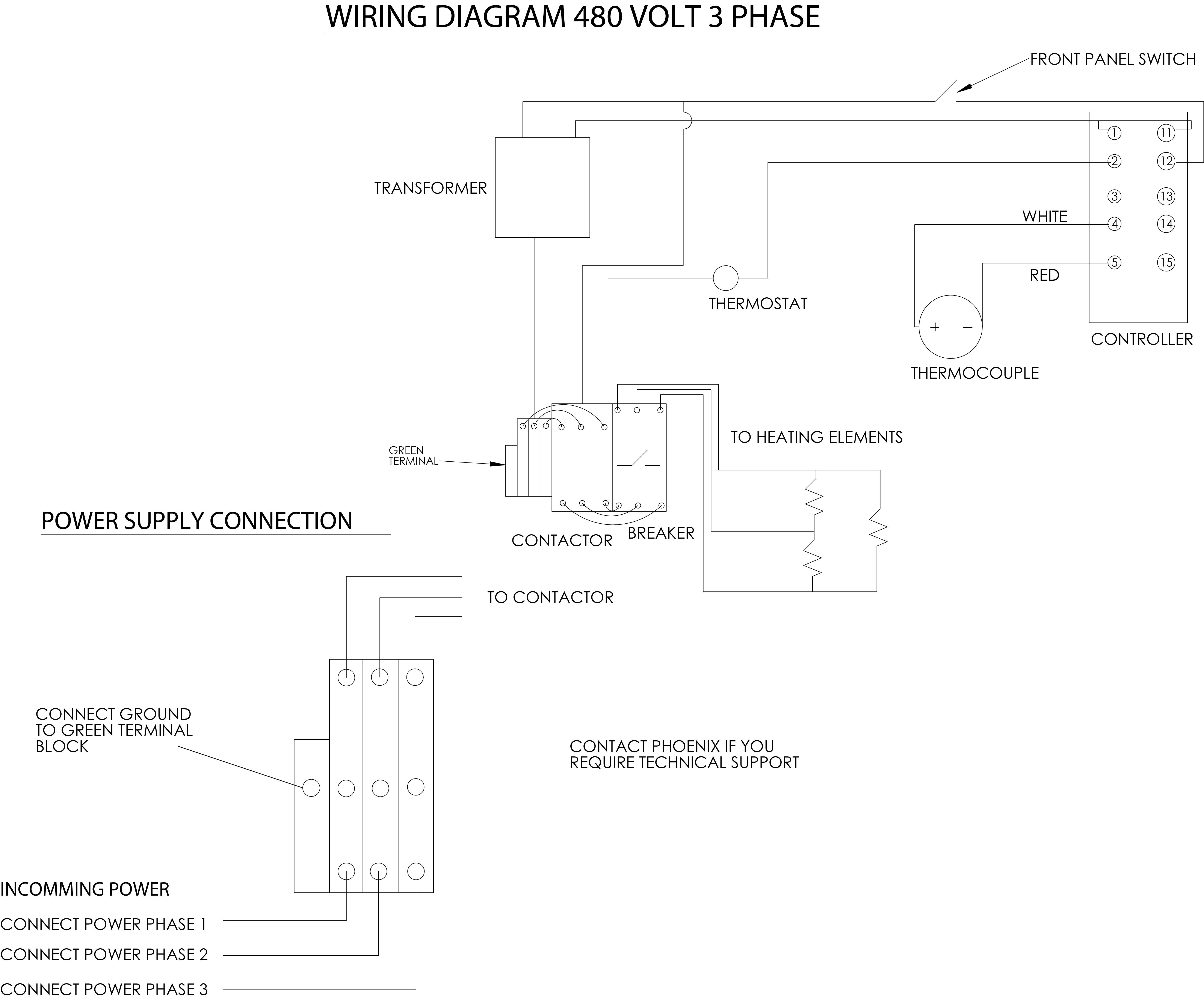 3 phase transformer wiring diagram oil axxess type 40ht bench rod ovens phoenix international