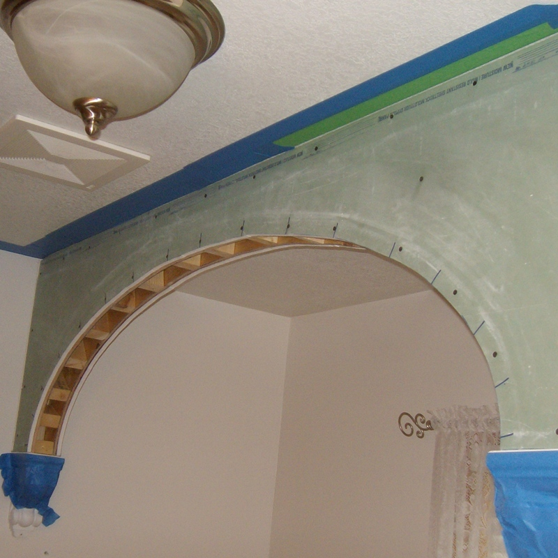 How To Frame Arched Doorway