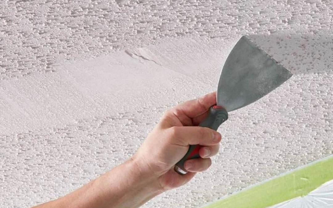 How to Remove Ceiling Texture DIY Guide from Drywall Repair Man
