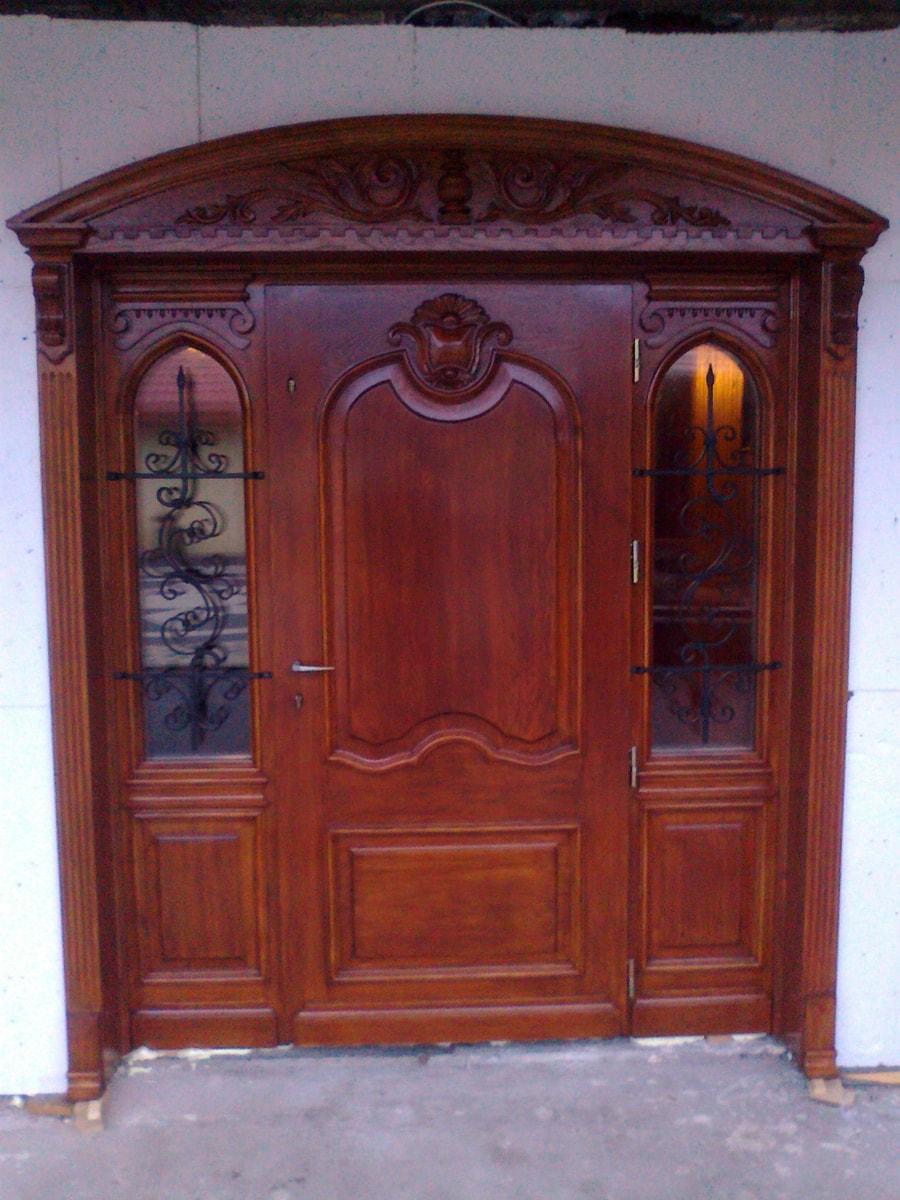 Drzwi zewnętrzne dębowe na wymiar