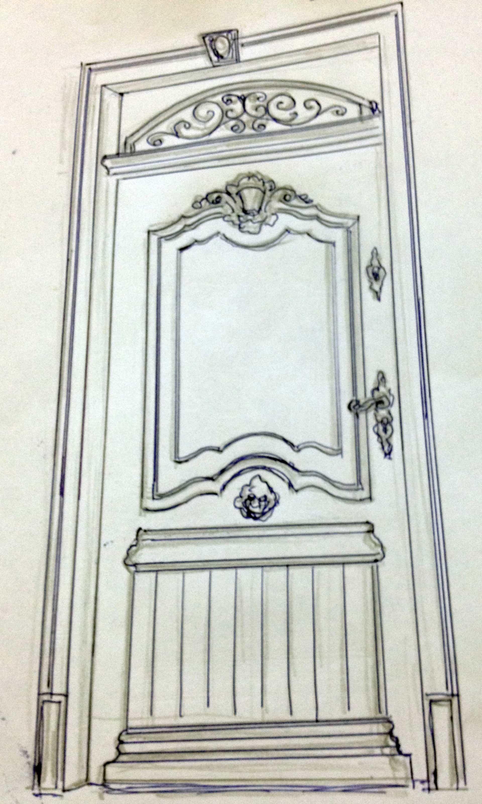 Drzwi wejściowe ręcznie robione – projekt