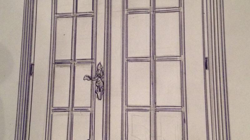 Drzwi recznie robione zdobione debowe