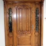 Drzwi zewnetrzne debowe z przeszkleniami