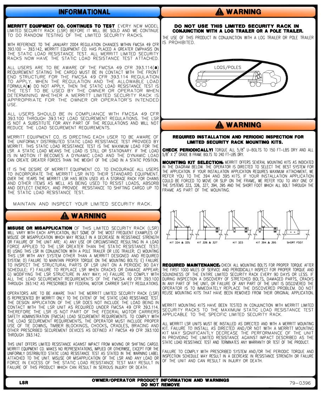 hight resolution of merritt aluminum headache racks cab racks mounting kits 800 789 8143
