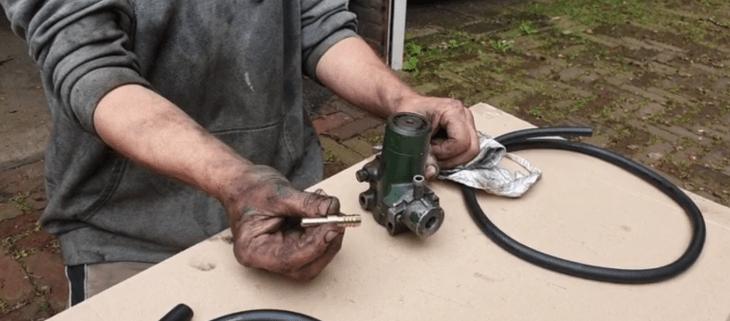 Alternative for the return hose