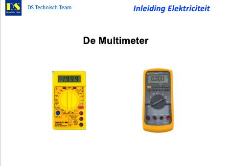 Meten, deel 3 van een serie rondom Elektriciteit en de DS