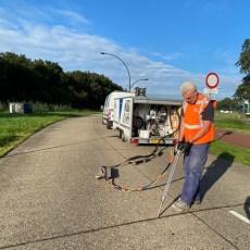 Busbaan Hengelo – bitumen voegvulling vervangen met onze 2-K volautomatische Kitunit.